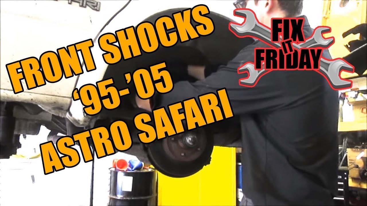 hight resolution of front shock replacement 1995 2005 gmc safari chevrolet astro van