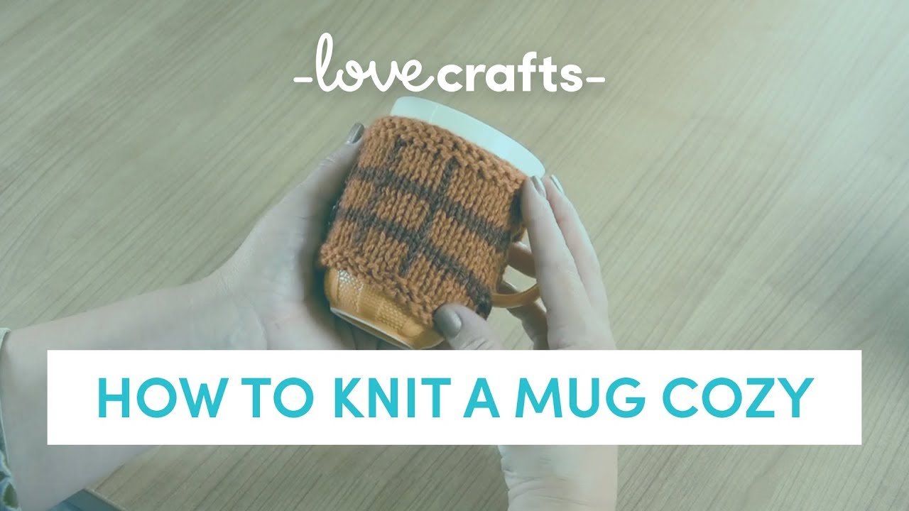 How to Knit a Mug Cozy - YouTube