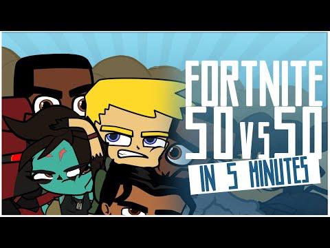 FORTNITE 50v50 in 5 Minutes (Animated)