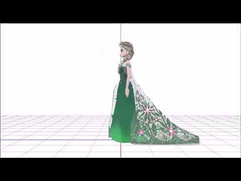 [MMD Frozen]Dress change scene (No voice)| アナと雪の女王 エルサのサプライズ ドレスチェンジシーン