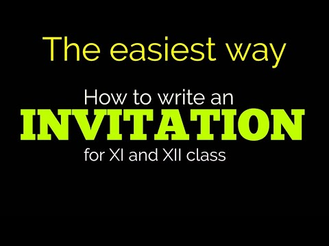 Invitation Writing For 11th And 12th Class Youtube