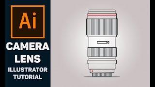 How to make camera lens vector - Illustrator Tutorial