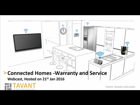 Connected Home – Warranty and Service Webinar by Tavant Technologies