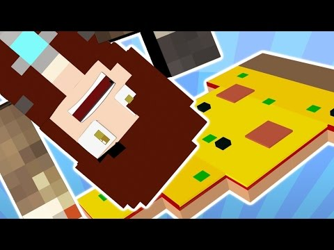 FALLING INTO FOOD OBLIVION | Minecraft Gravity