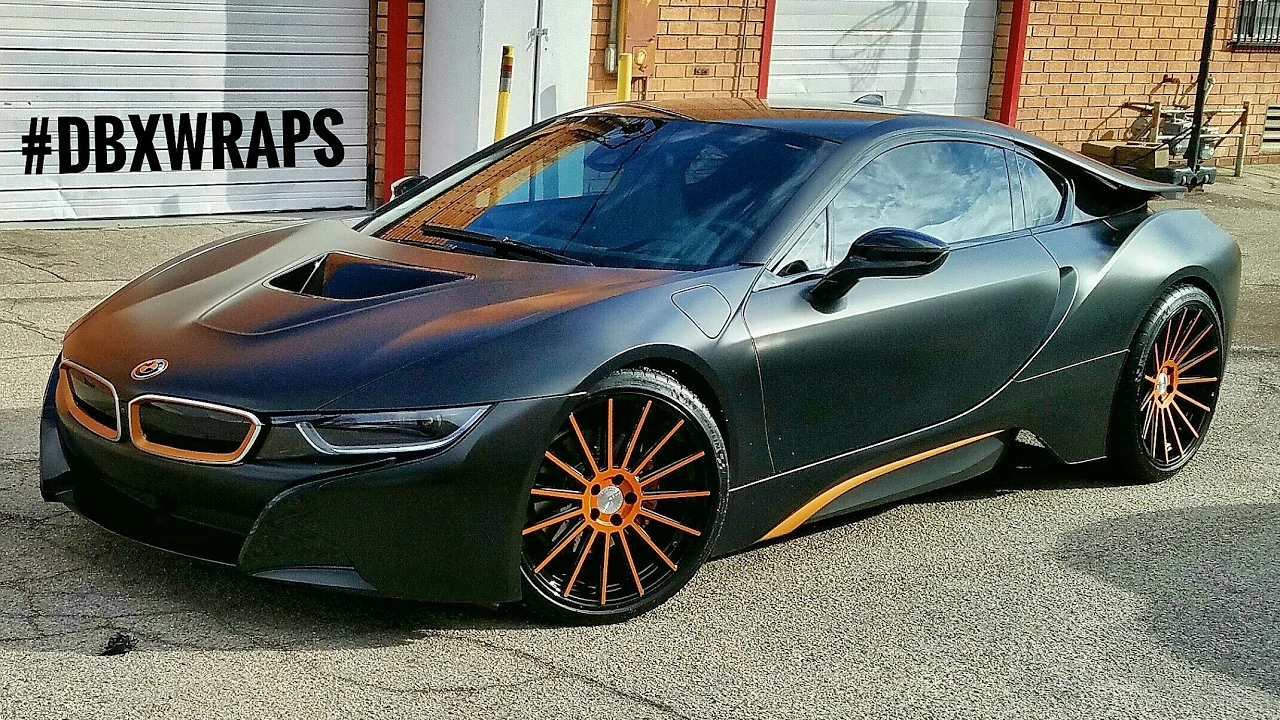 Project Bmw I8 Wrapped In Satin Black Aka Frozen Black With Matte