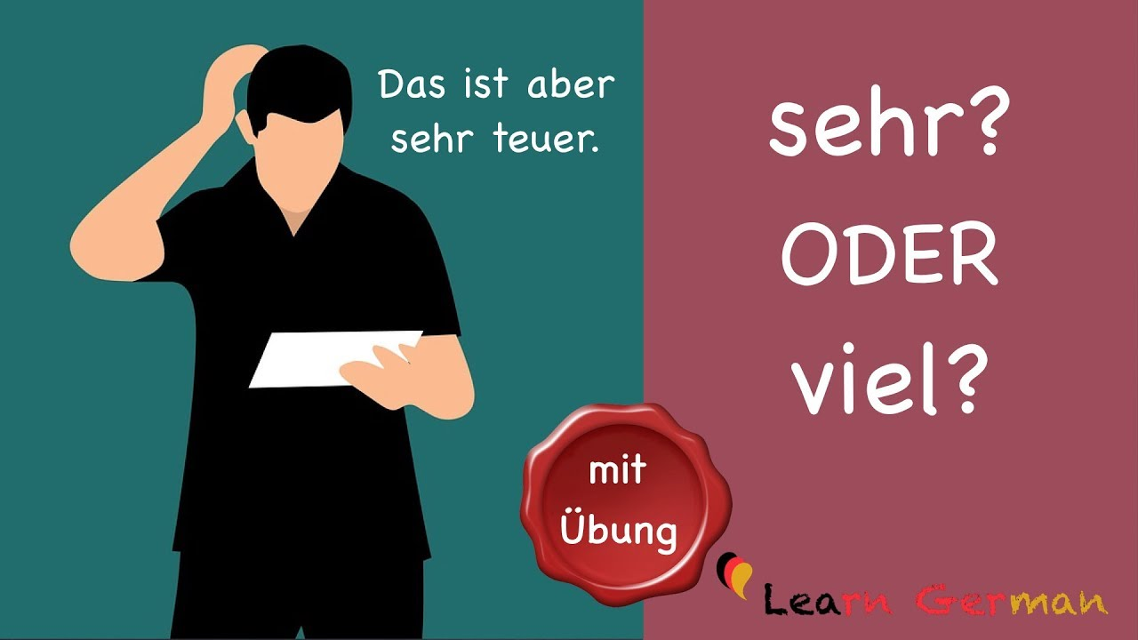 Download Learn German | Common Mistakes in German | sehr oder viel | A1 | A2