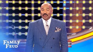Call 911! My blank just fell off! | Family Feud