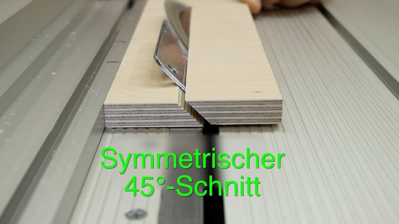 symmetrische 45-grad schnitte auf der kreissäge | zwt #21 - youtube