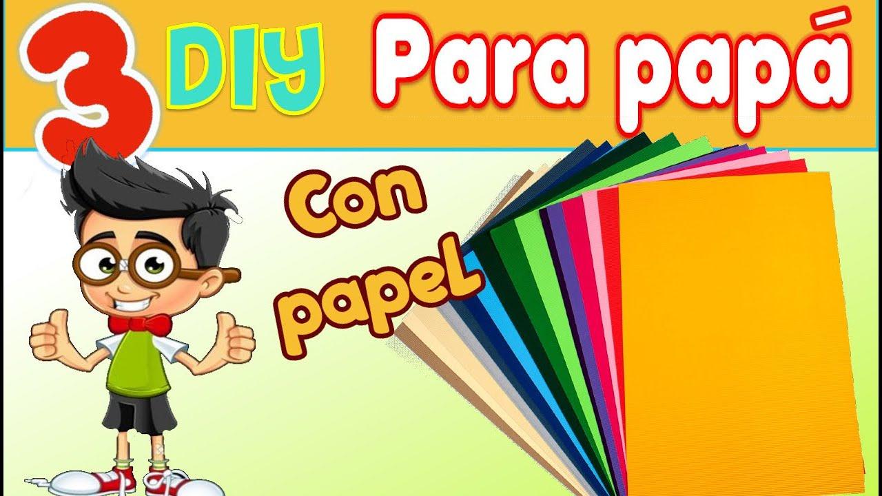 Regalos para dia del padre solo con hojas de papel de colores Manualidades fáciles sin dinero  Papá