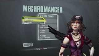 Borderlands 2 - Gaige the Mechromancer All Default Costumes