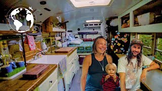 Pregnant Family Moves into Bus to Create a Healthy Lifestyle