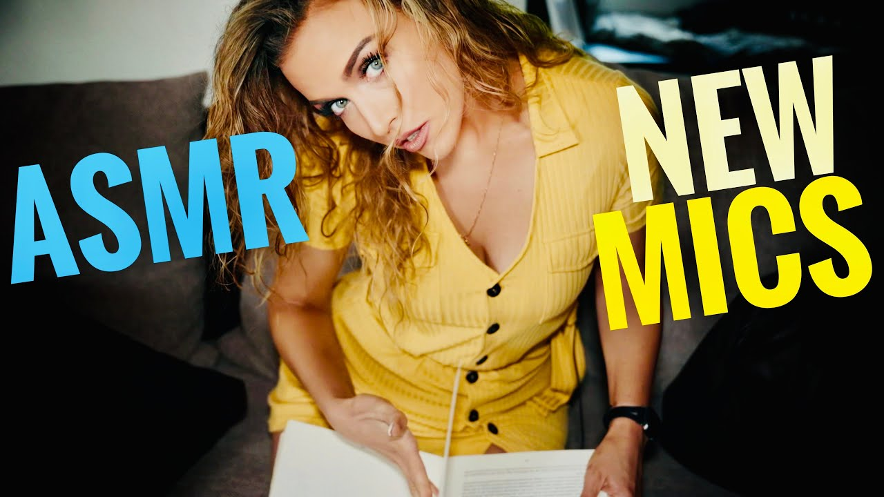 ASMR Gina Carla 🤩 Testing my new microphones with you! 🤗