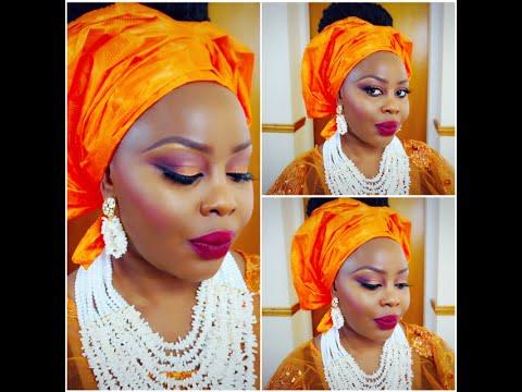 Nigerian Bridal Makeup and Gele Tutorial. - YouTube