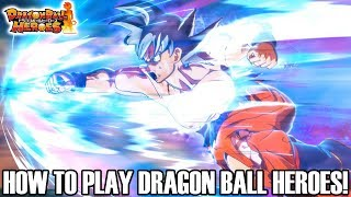 HOW TO PLAY DRAGON BALL HEROES!!! PREPARING FOR SUPER DRAGON BALL HEROES WORLD MISSION!