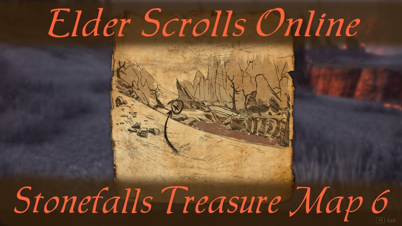 Stonefalls Treasure Map 6 vi [Elder Scrolls Online] ESO - YouTube