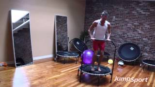 Fitness Trampoline Beginner Workout with Handle | Jeff McMullen, JumpSport Fitness