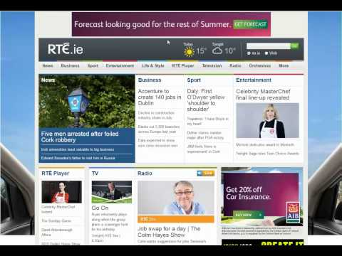 RTE.ie AIB 'Car Insurance' Curtain Reveal