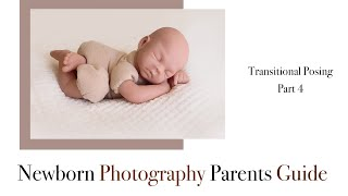 Newborn Photography Transitional Posing, Pose 4 Transition to the tummy 'Bum up'