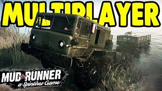 EPIC OFF-ROAD TRUCK DRIVING SIMULATOR | Spintires: MudRunner Multiplayer Gameplay