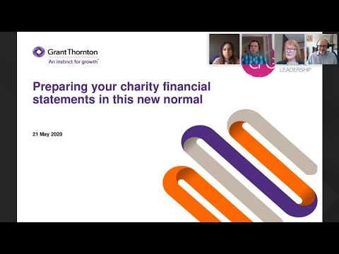Preparing your charity financial statements in this new normal