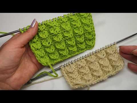 №29 Объемный универсальный  узор спицами  Гусиные лапки  Volumetric knitting pattern