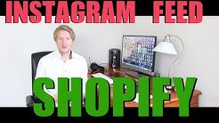 How to Add Instagram Feed to Shopify Store With Instafeed App Tutorial 2018