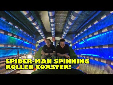 Spider-Man Doc Ock's Revenge Spinning Roller Coaster Front Seat POV IMG Worlds Dubai