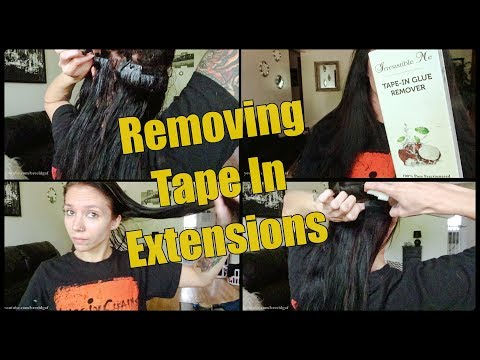 Tape In Hair Extensions | The Removal Process