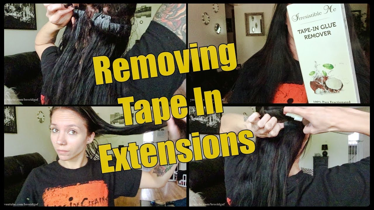 Tape In Hair Extensions The Removal Process Youtube