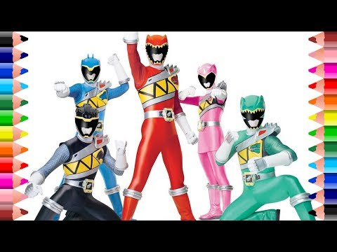 power rangers dino charge coloring pages ep 7