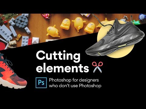 Photoshop: Cutting out elements with three different techniques