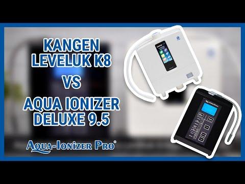 Kangen Leveluk Enagic K8 Vs. Aqua Ionizer Deluxe 9.5 | Water Ionizer | Compare ORP, PH, And Hydrogen