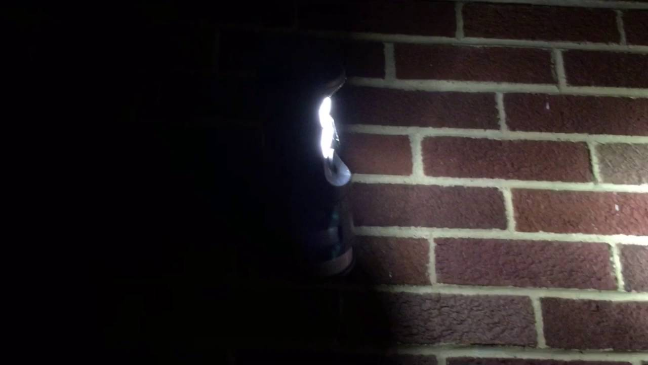 G E Motion Tracking Security Light On My House