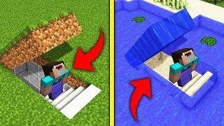 ПОДЗЕМНАЯ БАЗА против ПОДВОДНАЯ В МАЙНКРАФТ! Нубик построил Троллинг Ловушка Minecraft Мультик