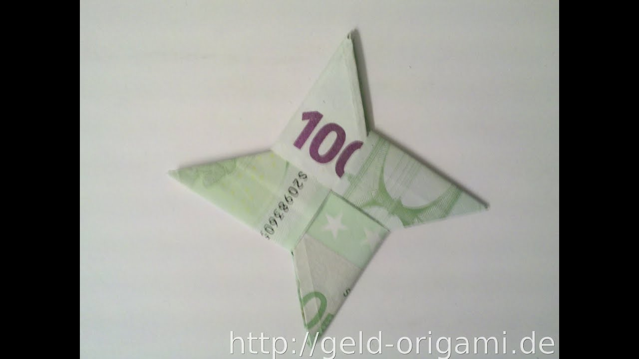 Geldgeschenke Basteln Star Wars Fold Star Out Of Two Banknotes Fold Star With Origami Fold Star Of Money Money Present