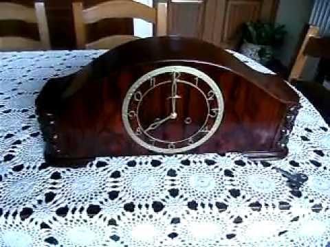 Orologio da tavolo a pendolo mogano s v youtube - Orologio a pendolo da tavolo ...