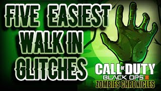 THE 5 EASIEST WALK IN GLITCH SPOTS for Black Ops 3 Zombies Maps - Part 1