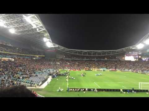 AUSTRALIA VS GREECE SOCCER MATCH AT SYDNEY ANZ STADIUM