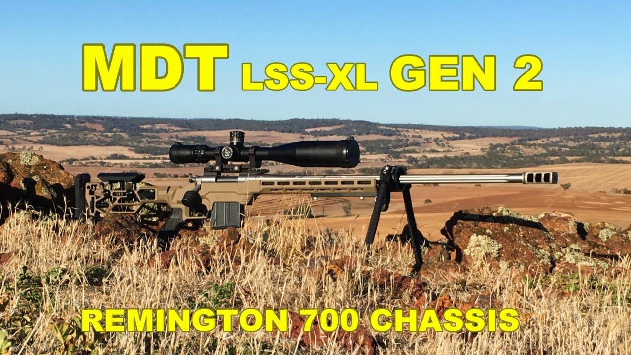 MDT LSS XL Gen2 Chassis look over and shots with 308 at 1720yards