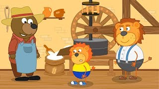 Lion Family How the Mill works Cartoon for Kids
