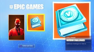 How To Get New INFERNO SKIN CHALLENGES PACK In Fortnite Right Now! (Fortnite Inferno Skin Bundle)