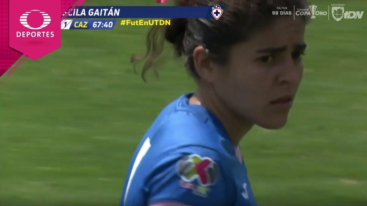Gol de Priscila Gaitán | América 2 - 1 Cruz Azul | Liga MX Femenil - J12 | Televisa Deportes
