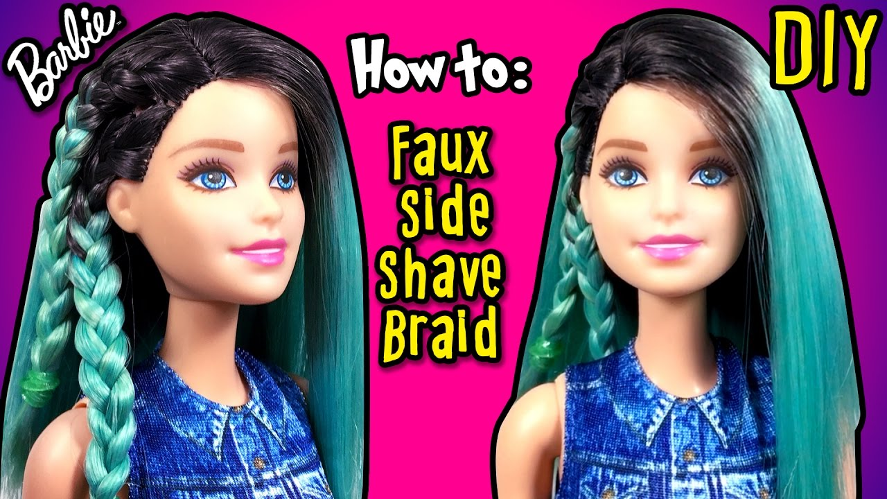 DIY - How to Make Fake Half Shaved Hair Barbie Doll - Barbie ...