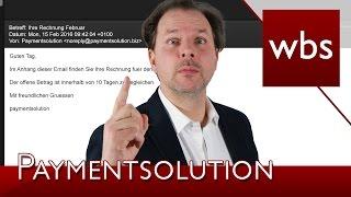 Paymentsolution – ACHTUNG: Rechnungs-Mail enthält Malware | Rechtsanwalt Christian Solmecke
