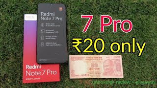 ₹20 only | Redmi note 7 Pro for Rs 20 | Latest Tricks - unboxing + review +giveaway