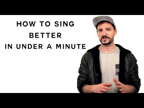 How To Sing Better In Under a Minute - YouTube