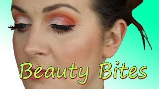 Beauty Bites: Orange Glitter CUT Crease Tutorial ( hooded eye ) (2018) | Claire Tutorials