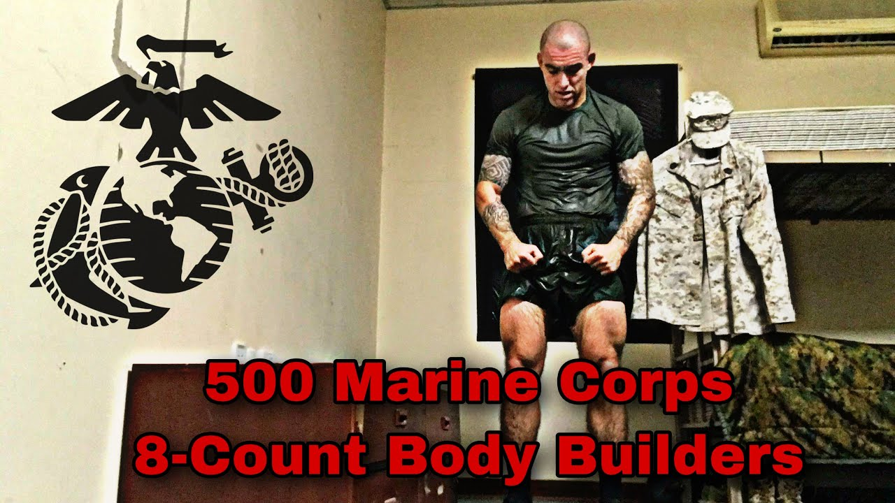 (Day 7 of 31) Legendary  500 Marine Corps 8-count body builders