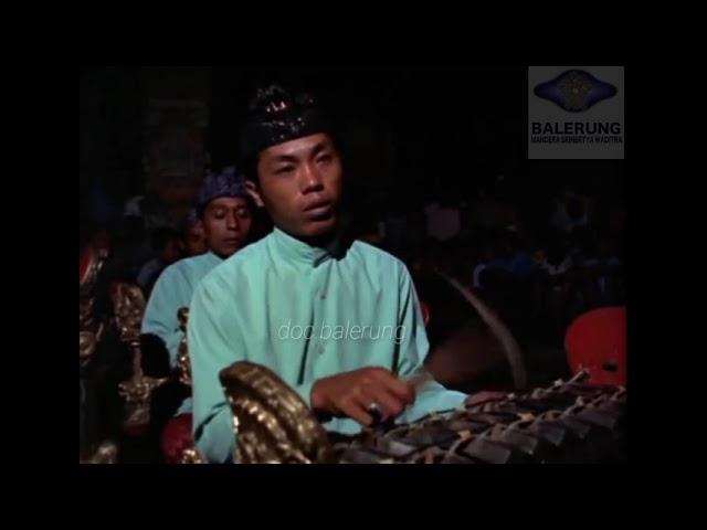 Tabuh Kebyar Susun by Gong Gunung Sari 1969 BBC TV