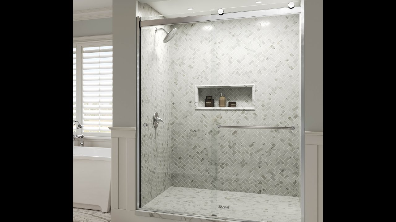 Rolling Glass Shower Doors.Introducing The New Rotolo Series Bypass Rolling Door 3 8 Glass